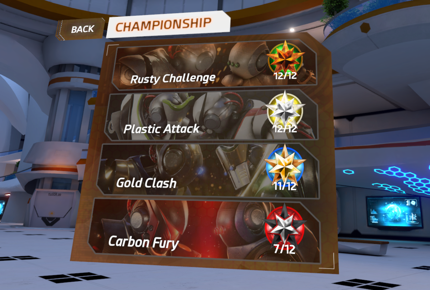 【Racket Fury:Table Tennis VR】攻略のしかた2