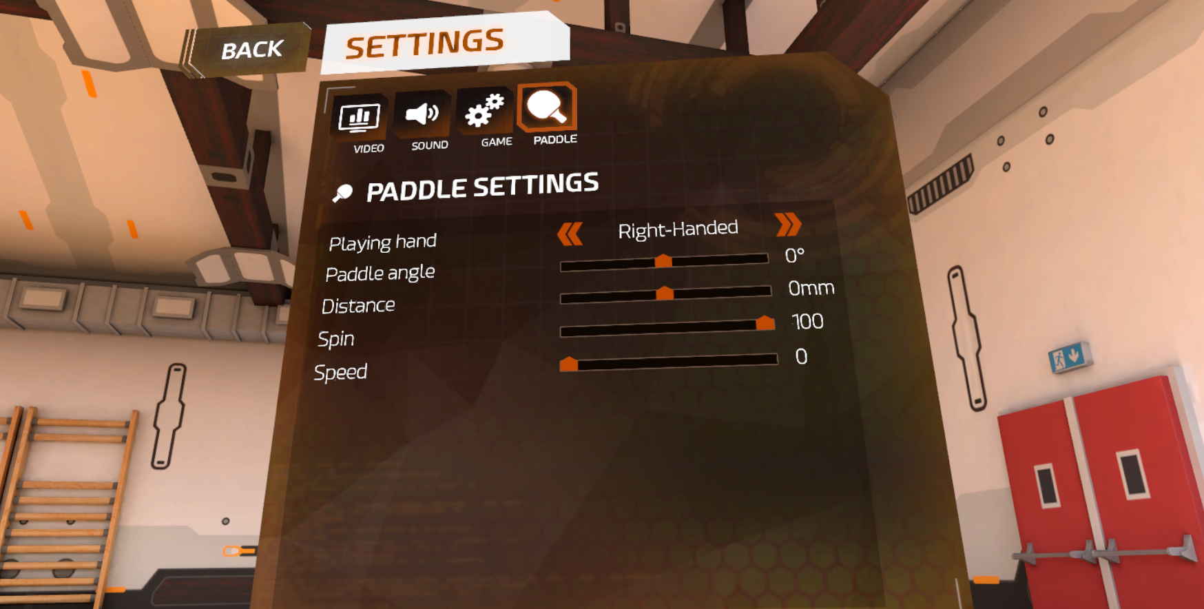 【Racket Fury:Table Tennis VR】設定のしかた2