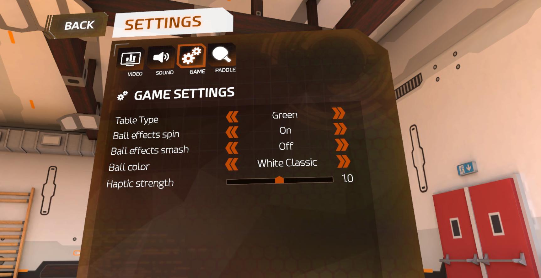 【Racket Fury:Table Tennis VR】設定のしかた3