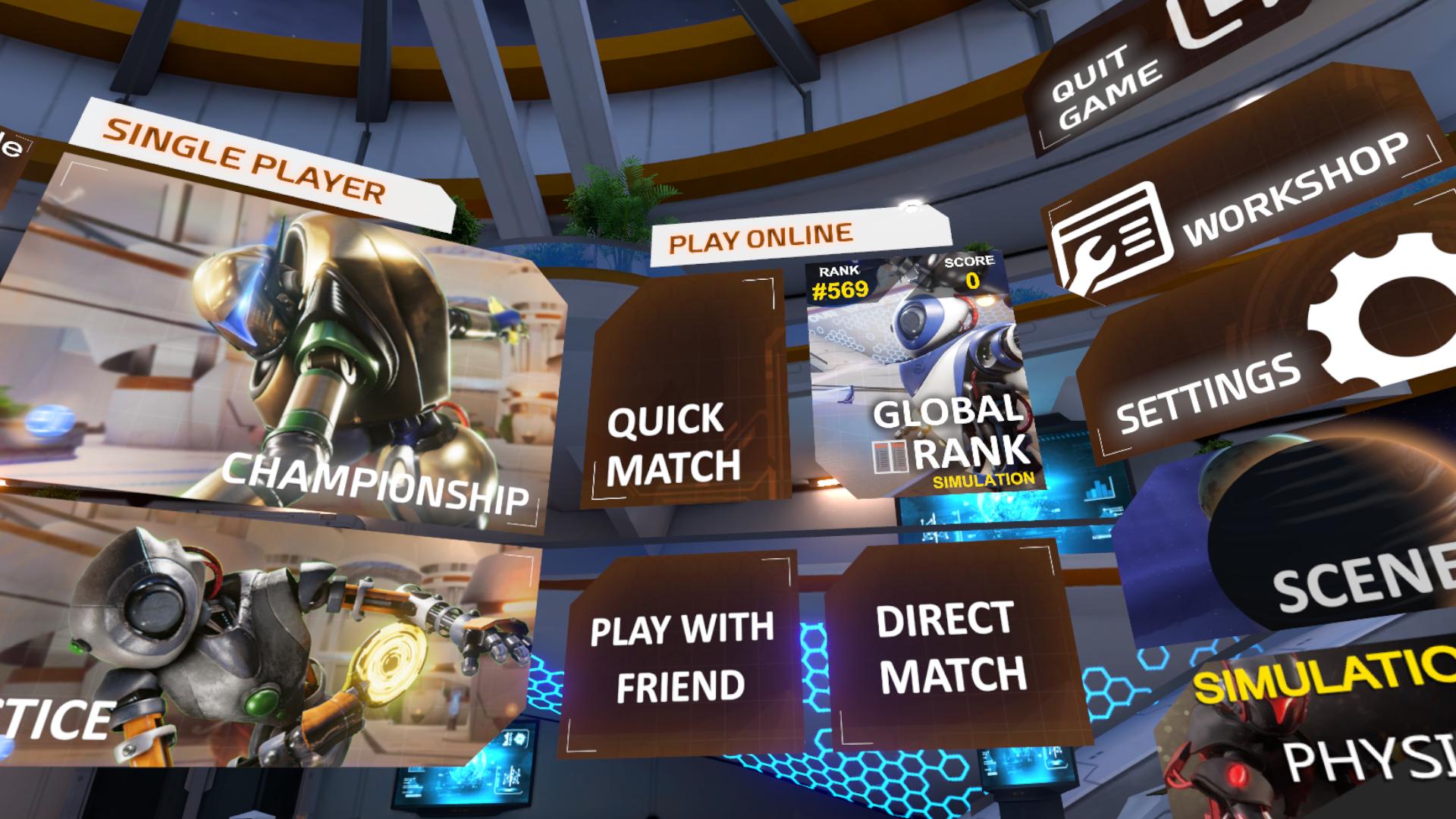 【Racket Fury:Table Tennis VR】の遊び方1