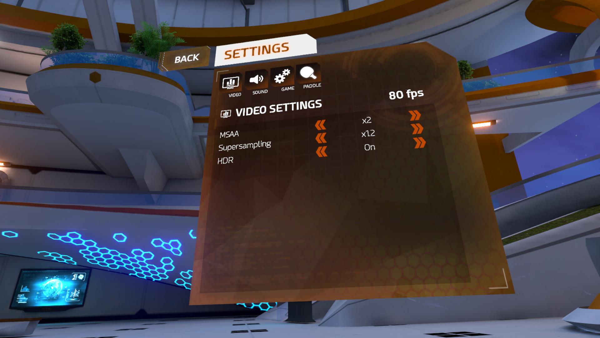【Racket Fury:Table Tennis VR】設定のしかた1