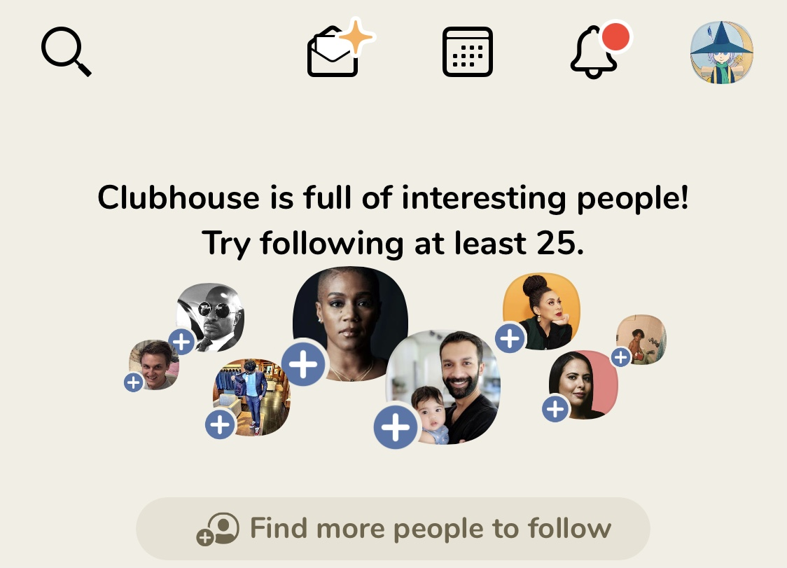 【Clubhouse】招待の仕方1